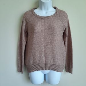 2/$15 Mossimo Fuzzy Taupe Oversize Sweater - Small